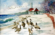 Winter Geese by Leuty